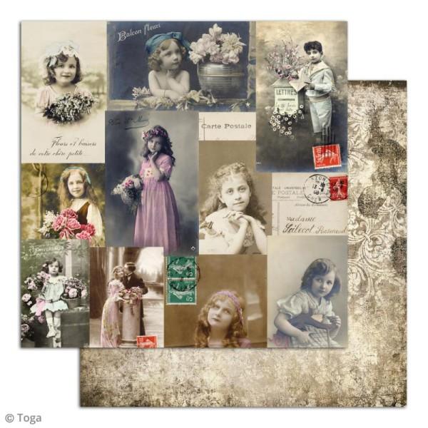 Papier scrapbooking Toga - Le temps des secrets - Set de 10 feuilles de 30,5 x 30,5 cm - Photo n°6