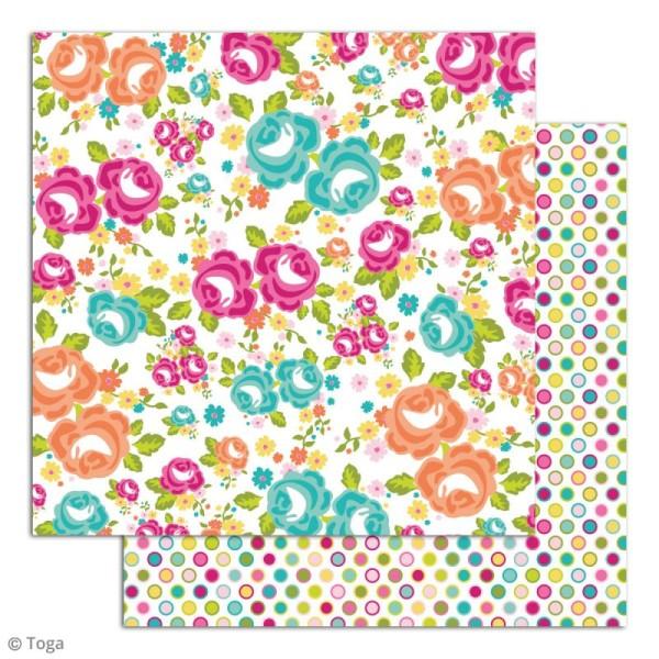 Papier scrapbooking Toga - Dimanche à la campagne - Set de 6 feuilles de 30,5 x 30,5 cm - Photo n°4