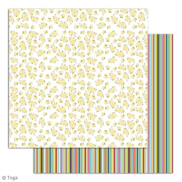 Papier scrapbooking Toga - Dimanche à la campagne - Set de 6 feuilles de 30,5 x 30,5 cm - Photo n°6
