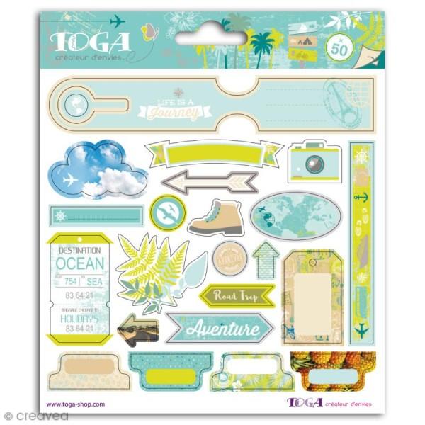 Stickers Toga - Escapade - 2 planches de 15 x 15 cm - Photo n°1