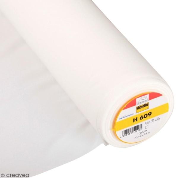 Entoilage Vlieseline - H609 Blanc - Au mètre (sur mesure) - Photo n°1