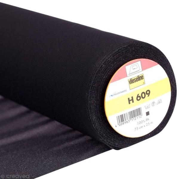 Entoilage Vlieseline - H609 Noir - Au mètre (sur mesure) - Photo n°1