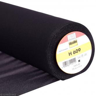 Entoilage Vlieseline - H609 Noir - Au mètre (sur mesure)