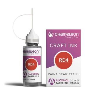 Kit encre de recharge Chameleon - Rouge Crimson red - N° RD4
