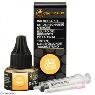 Kit recharge d'encre Chameleon - Jaune Mellow yellow - N° YO2