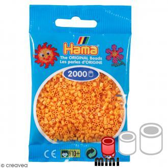 Perles Hama Mini Orange nounours 60 - Diamètre 2,5 mm x 2000
