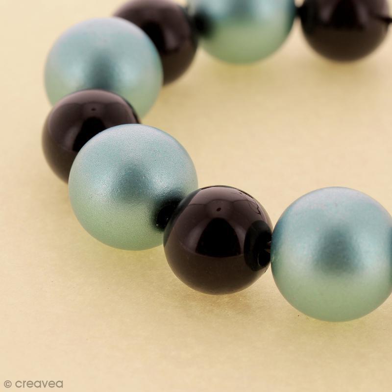 Perles acryliques Bleu pastel - 12 mm de diamètre - 10 pcs - Photo n°2