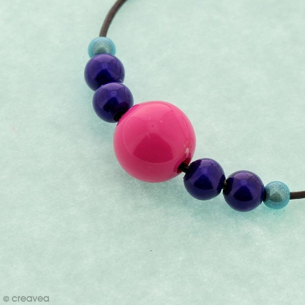 Perles acryliques Bleu pastel - 12 mm de diamètre - 10 pcs - Photo n°3