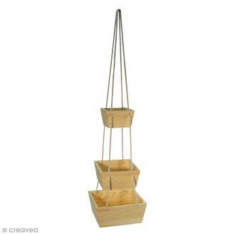 Set Plateaux en bois à suspendre avec corde  - Bois - 3 pcs