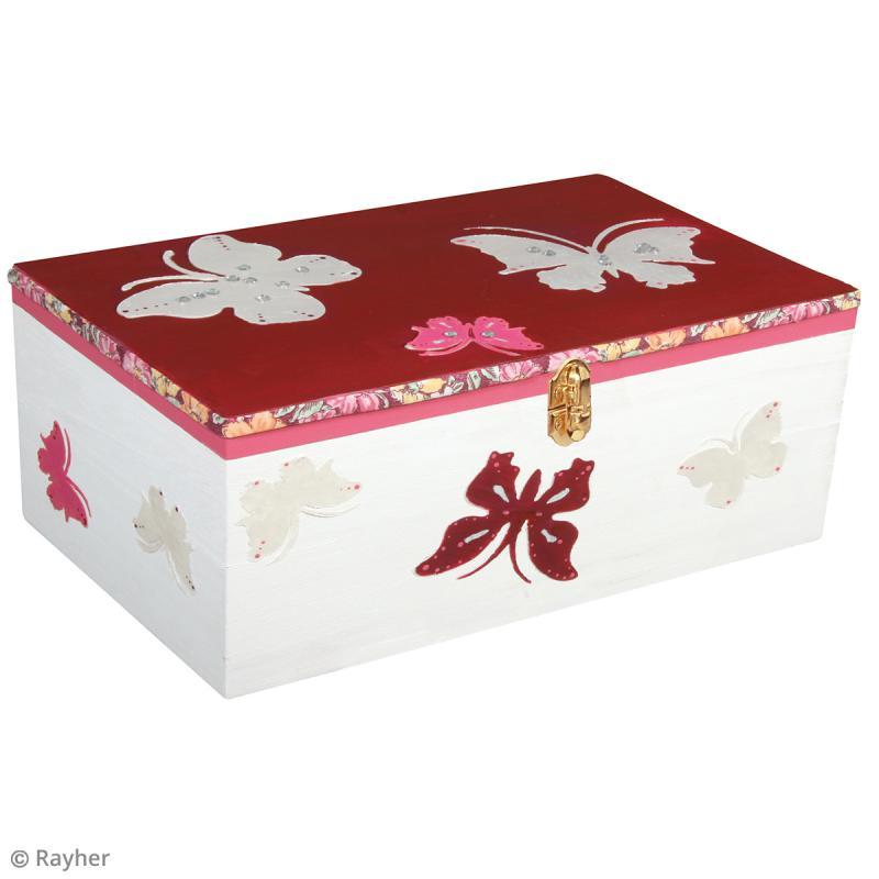 Boîte à thé - 6 cases - Bois - 21,5 x 18 x 7 cm - Photo n°2