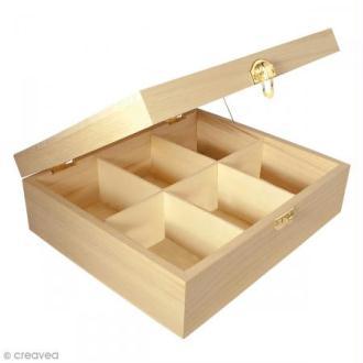 boite en bois d corer acheter boite bois personnaliser au meilleur prix creavea. Black Bedroom Furniture Sets. Home Design Ideas