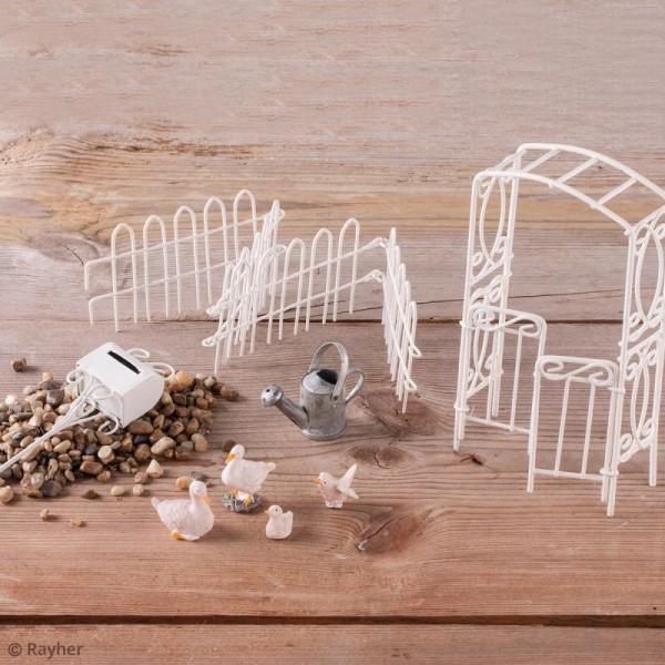 Décorations de jardin miniatures - Arrosoir et seaux en métal - Photo n°2