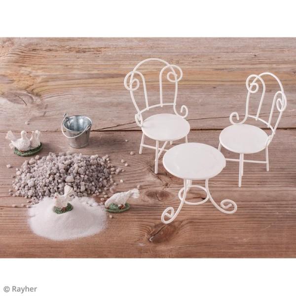 Décorations de jardin miniatures - Arrosoir et seaux en métal - Photo n°3