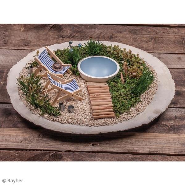 Décorations de jardin miniatures - Arrosoir et seaux en métal - Photo n°4