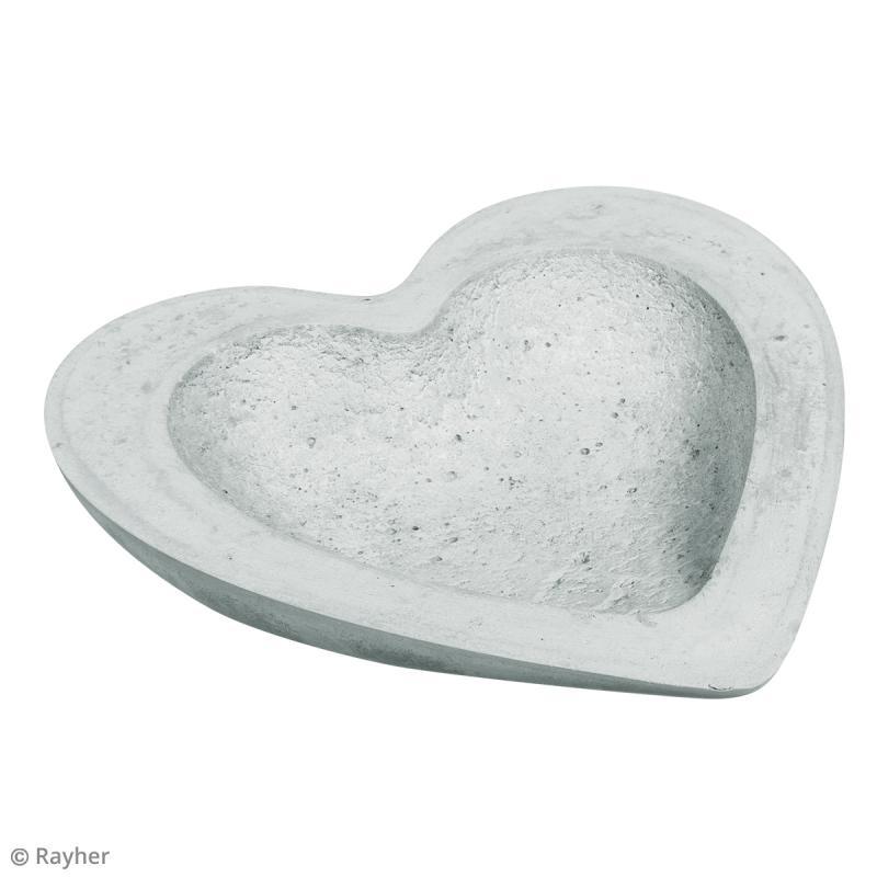 Kit de Bricolage béton créatif - Coupelle coeur - Photo n°4