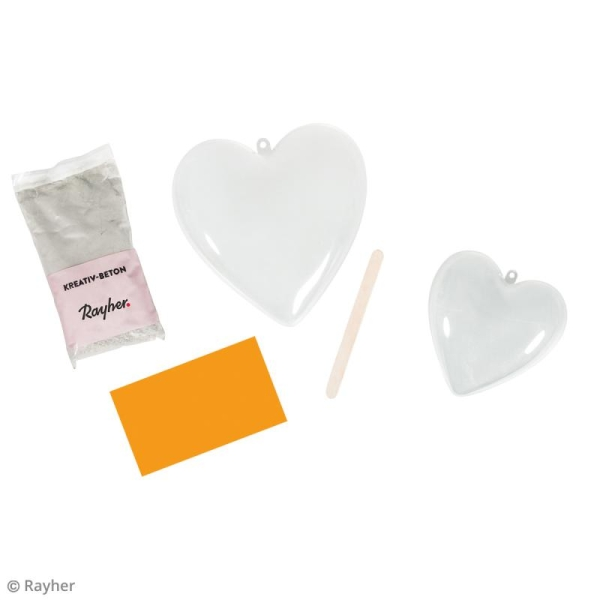 Kit de Bricolage béton créatif - Coupelle coeur - Photo n°3