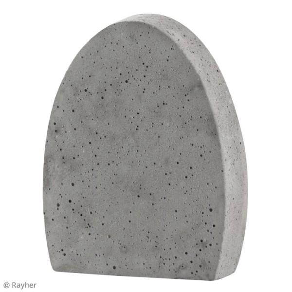 Plaque avec moule pour béton - Oeuf - 8 x 10,5 cm - Photo n°2