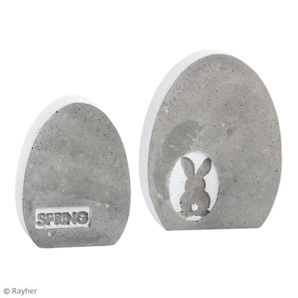 Plaque avec moule pour béton - Oeuf - 8 x 10,5 cm - Photo n°3