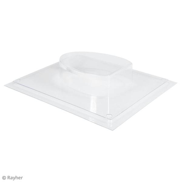 Plaque avec moule pour béton - Oeuf - 8 x 10,5 cm - Photo n°5