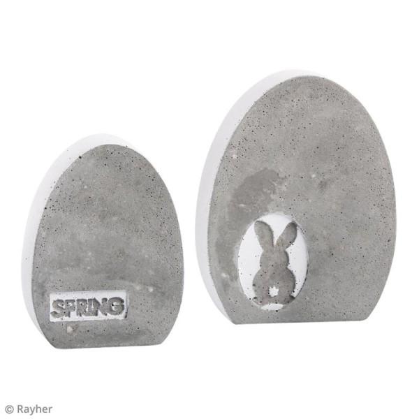 Plaque avec moule pour béton - Oeuf - 8 x 10,5 cm - Photo n°6