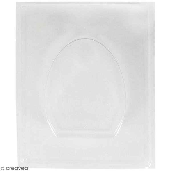 Plaque avec moule pour béton - Oeuf - 8 x 10,5 cm - Photo n°1