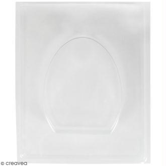 Plaque avec moule pour béton - Oeuf - 8 x 10,5 cm