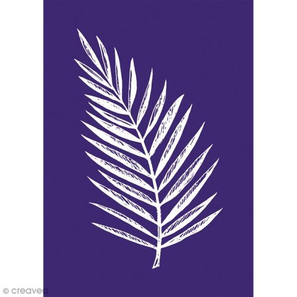 Pochoir adhésif pour sérigraphie - Feuille de palmier - A5 - Photo n°1