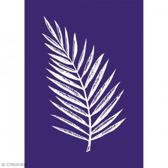 Pochoir adhésif pour sérigraphie - Feuille de palmier - A5