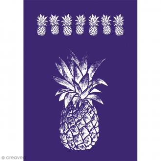 Pochoir adhésif pour sérigraphie - Ananas - Planche A4