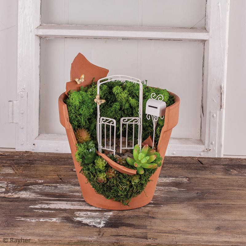 D coration de jardin miniature bo te aux lettres en fer blanc 3 x 2 x 19 cm miniature - Pot en 3 lettres ...