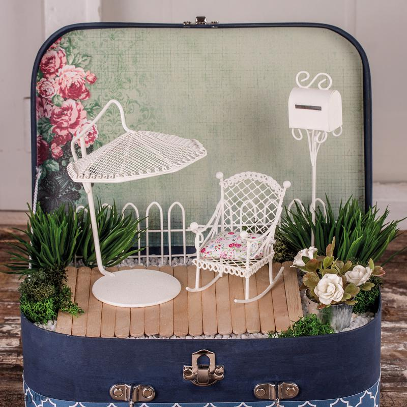 D coration de jardin miniature bo te aux lettres en fer for Deco jardin miniature