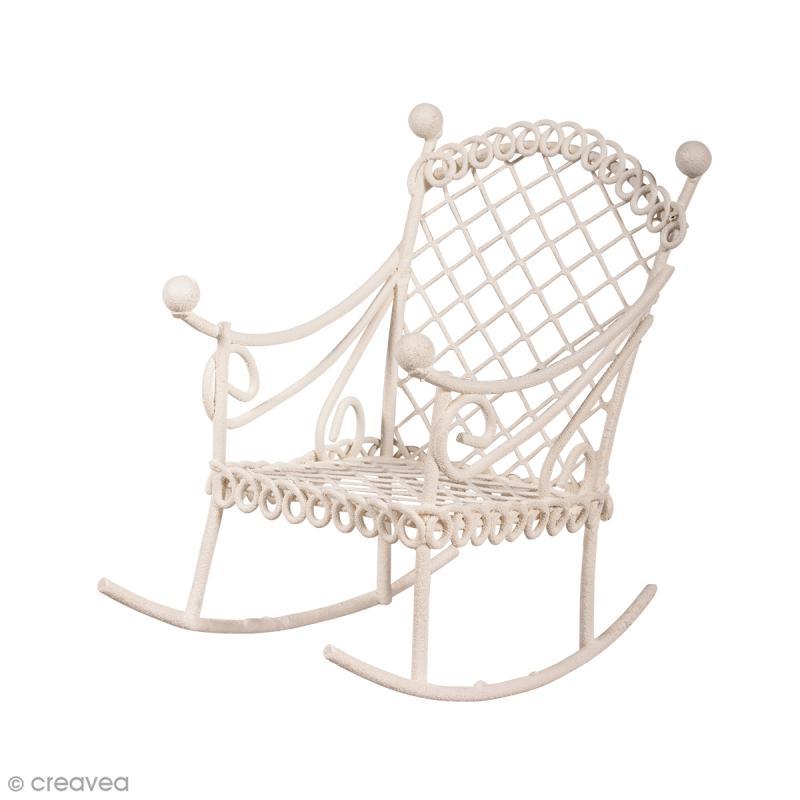 d coration de jardin miniature chaise bascule en fer blanc 5 x 8 x 7 5 cm miniature. Black Bedroom Furniture Sets. Home Design Ideas
