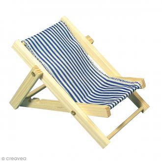 Chaise longue miniature - Bois - 14 cm