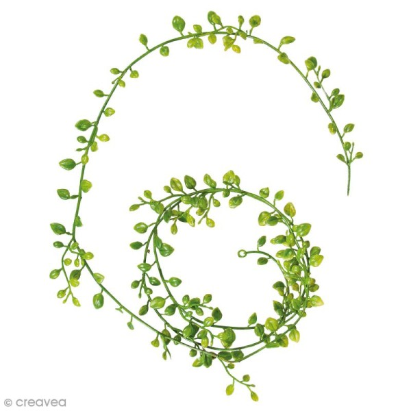 Guirlande de feuilles artificielles - Plastique - 125 cm - Photo n°1