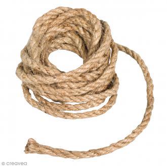 Grosse corde en jute - Naturel - 6 mm x 3 m