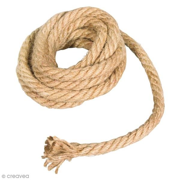 Grosse corde en jute - Naturel - 9 mm x 2 m - Photo n°1