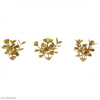 Plante articifielle - Minis branches de buis - Plastique - 4,5 cm - 12 pcs