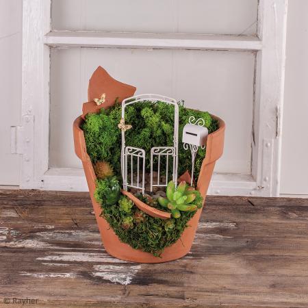 Plante articifielle echeveria vert clair plastique 5 for Acheter deco jardin