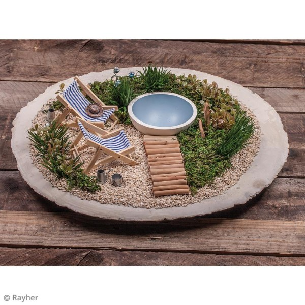 Mini plante artificielle - Haworthia - Plastique - 5 x 3,5 cm - Photo n°4