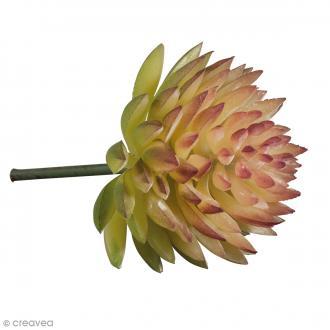 Mini plante articifielle - Echeveria - Plastique - 4,5 x 3 cm