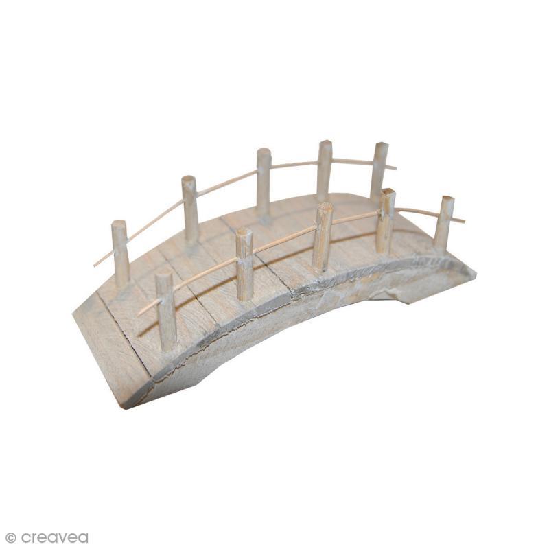 D coration de jardin miniature pont en bois miniature - Pont en bois jardin ...