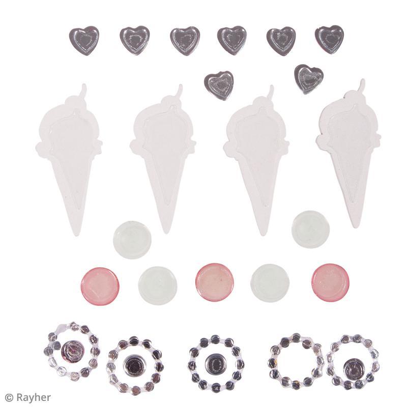 Stickers Glaces et strass - De 0,5 cm à 5 cm - 24 pcs - Photo n°2