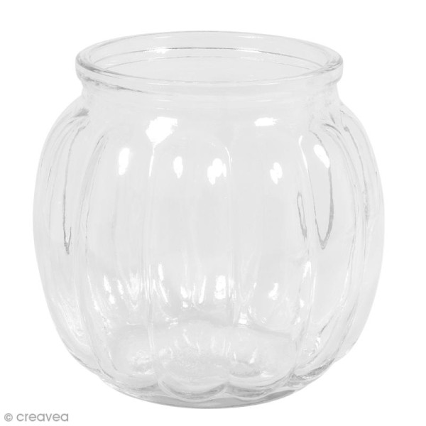 Vase en verre - Bombé - 12 x 12 x 11 cm - Photo n°2
