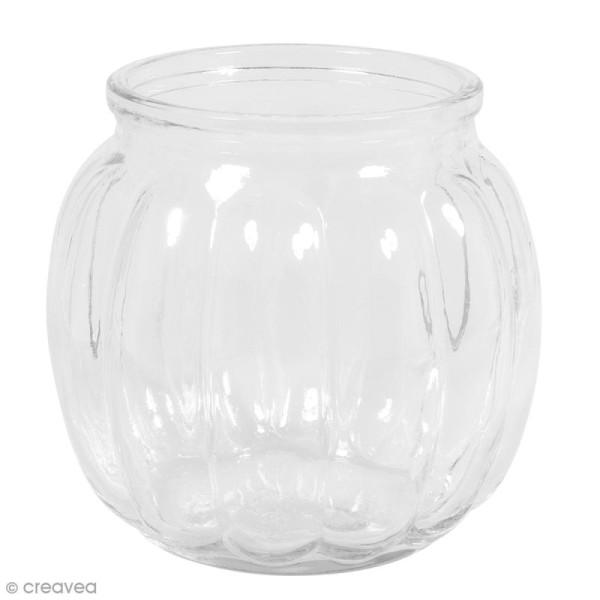 Vase en verre - Bombé - 12 x 12 x 11 cm - Photo n°1
