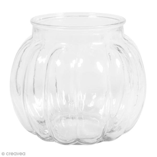 Vase en verre - Bombé - 15 x 15 x 13 cm - Photo n°1