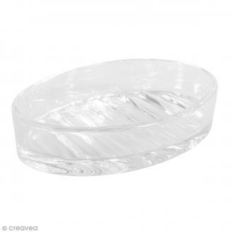 Porte savon en verre - 12,5 x 8,5 cm