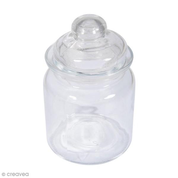 Récipient en verre lisse avec couvercle - 8 x 12,5 cm - 280 ml - Photo n°1