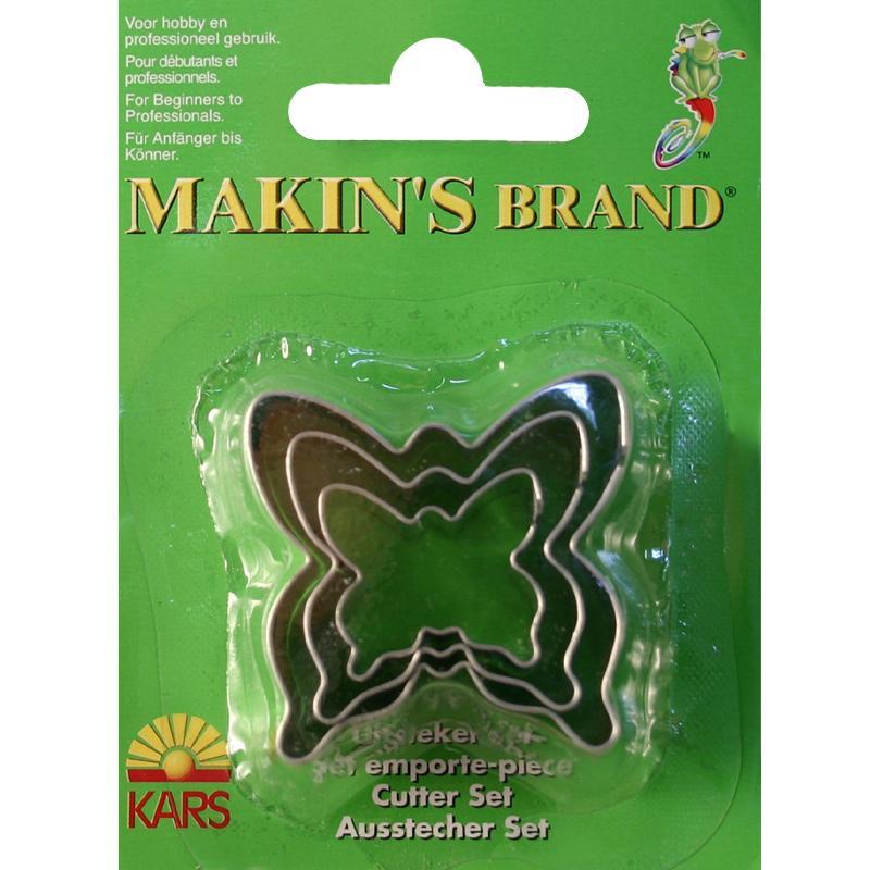 Emporte pi ce inox assortiment papillon x 3 accessoires for Accessoires cuisine inox