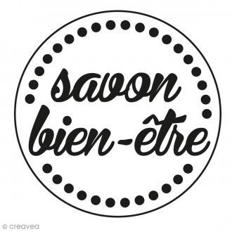 Tampon bois rond Savon bien-être - 3 cm