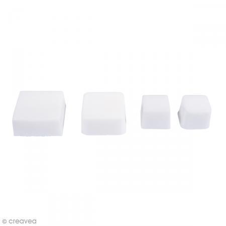 Moule pour savon et béton - Carrés - 4 formes - Photo n°2